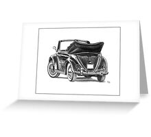 Volkswagen Beetle Type 1 Pencil Drawing Art Print Signed Greeting Card