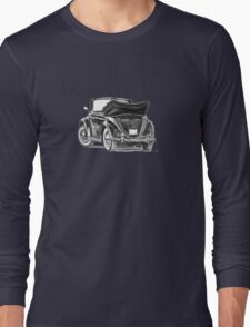 Volkswagen Beetle Type 1 Pencil Drawing Art Print Signed Long Sleeve T-Shirt
