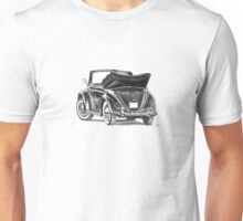 Volkswagen Beetle Type 1 Pencil Drawing Art Print Signed Unisex T-Shirt