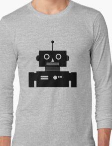 Retro Robot Shape BLK Long Sleeve T-Shirt