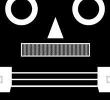 Retro Robot Shape BLK Sticker