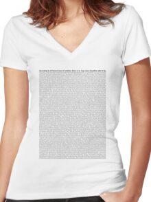 script Women's Fitted V-Neck T-Shirt