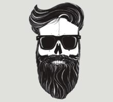 Ray's black bearded skull  by Bigfatbird