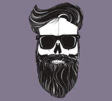 Ray's black bearded skull  Kids Tee