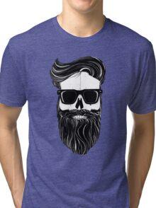 Ray's black bearded skull  Tri-blend T-Shirt
