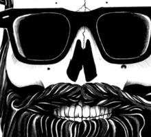 Ray's black bearded skull  Sticker