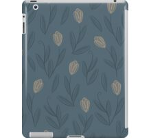 Floral blue seamless pattern with yellow tulips iPad Case/Skin