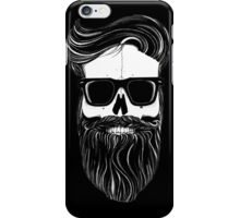 Ray's black bearded skull  iPhone Case/Skin