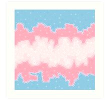 Trans Pride Flag Galaxy Art Print