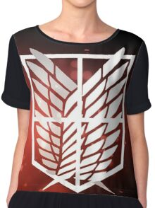 stationary guard attack on titan Chiffon Top
