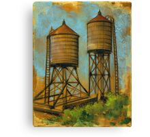 Water Towers 2 Canvas Print