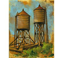 Water Towers 2 Photographic Print
