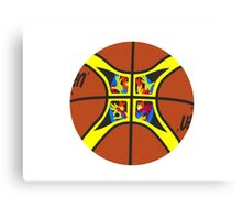 FIBA official basketball, without text Canvas Print