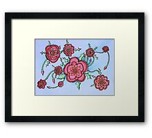 Watercolor Red Flower 1 Framed Print