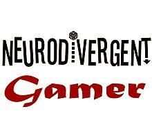 Neurodivergent Gamer Photographic Print