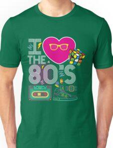 I heart the 80's eighties Unisex T-Shirt