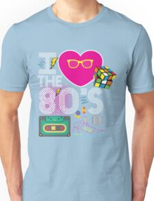I heart the 80's eighties Unisex T-Shirt