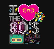 I heart the 80's eighties Womens Fitted T-Shirt