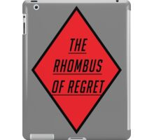 THE RHOMBUS OF REGRET iPad Case/Skin