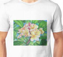 Yellow Pink Plumeria Unisex T-Shirt