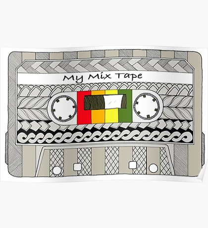 Mix Tape - Cassette Poster