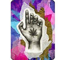 Hemp Leaf on Palm Photographic Print