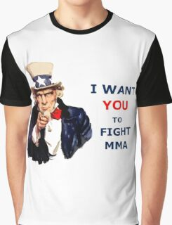 Uncle Sam I want you to Fight MMA Graphic T-Shirt
