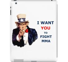 Uncle Sam I want you to Fight MMA iPad Case/Skin
