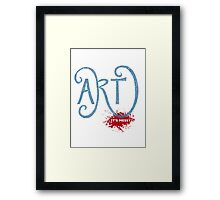 Art – It's Messy Framed Print