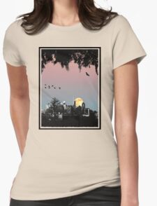 Brisbane City Skyline Womens Fitted T-Shirt