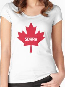 Sorry Canada Women's Fitted Scoop T-Shirt