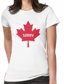 Sorry Canada Womens Fitted T-Shirt