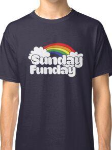 Sunday Funday retro rainbow Classic T-Shirt