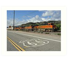 BNSF # 7805 at Cajon Pass Art Print