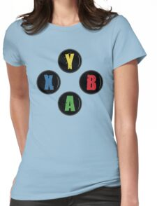 X Box Buttons - Grunge Style Womens Fitted T-Shirt