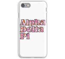 ADPi Block Text - Flower iPhone Case/Skin
