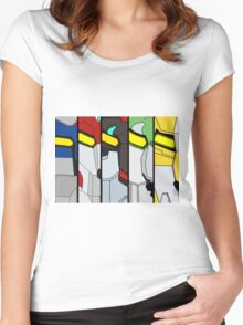Voltron Lion Poster Women's Fitted Scoop T-Shirt