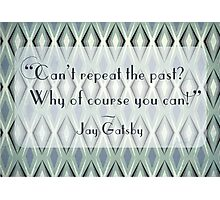 Illustrated Gatsby Quote Photographic Print