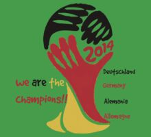 FIFA World Cup Champion Germany Deutschland Glückwunsch Baby Tee