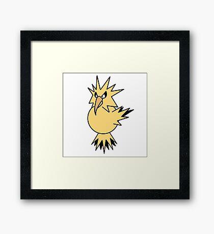 Pokemon Zapdos Framed Print