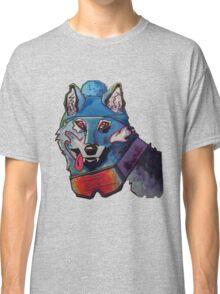 Wolf in Beanie Classic T-Shirt