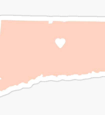 Connecticut Peach Sticker