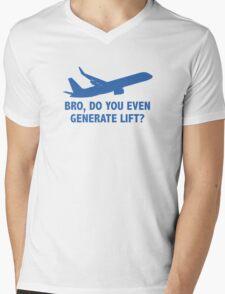 Bro, Do You Even Generate Lift? Mens V-Neck T-Shirt