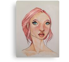 A Portrait in Pink Canvas Print