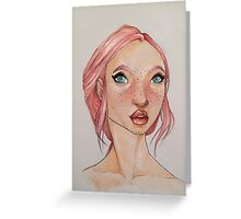 A Portrait in Pink Greeting Card
