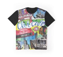 Chicago Collage Watercolor Graphic T-Shirt