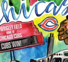 Chicago Collage Watercolor Sticker