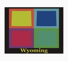 Colorful Wyoming Pop Art Map Kids Clothes