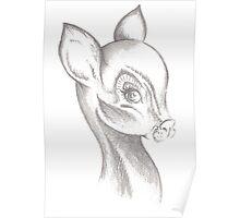 Dear Little Deer (pencil) Poster