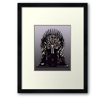 Underwood on the Iron Throne Framed Print